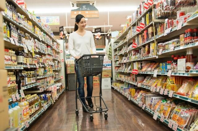 スーパーマーケット買い物イメージ