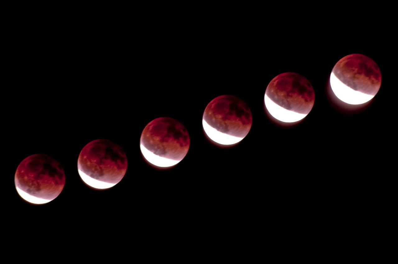 皆既月食 イメージ